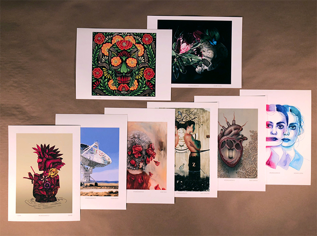 Assorted artist , mexico print set
