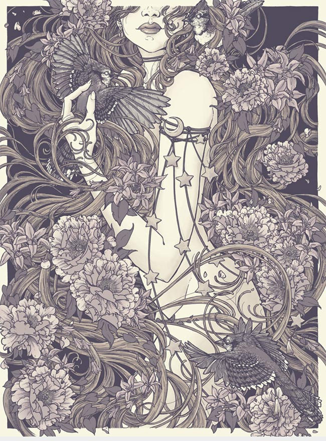 """Rapunzel""print by Erica Williams"