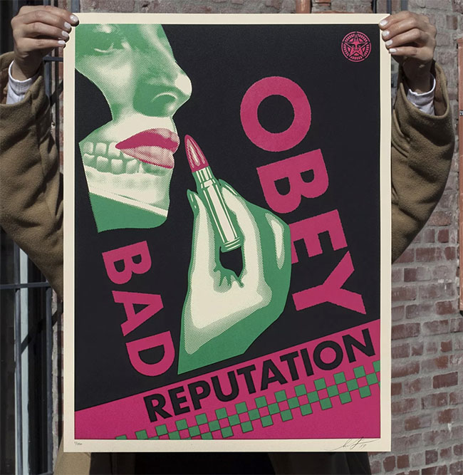 Bad Reputation (Black) print by Shepard Fairey