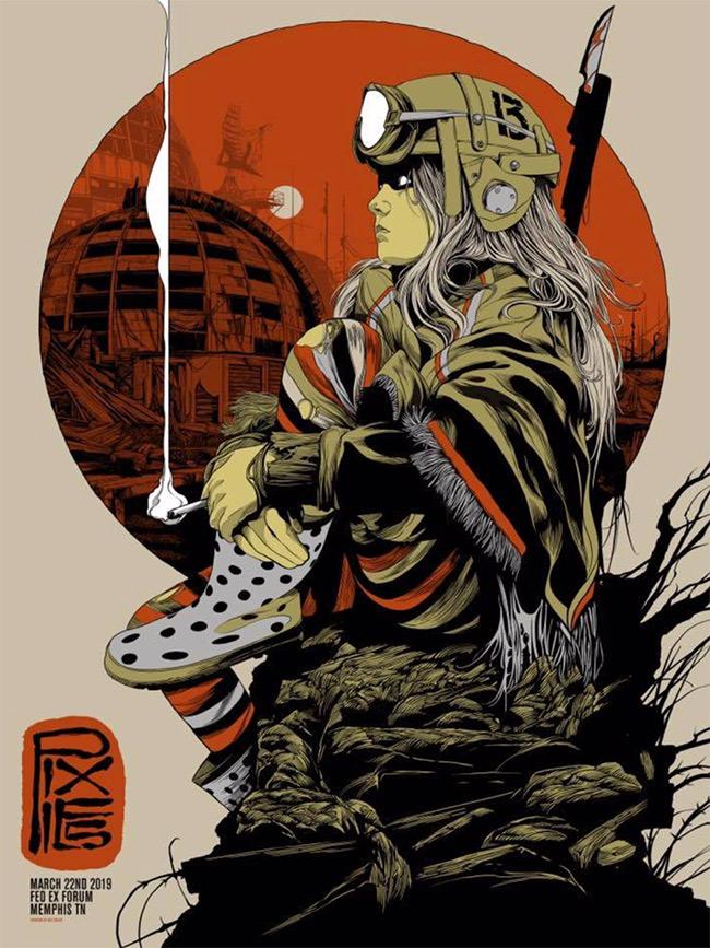 Pixies Memphis Concert Poster print by Ken Taylor width=