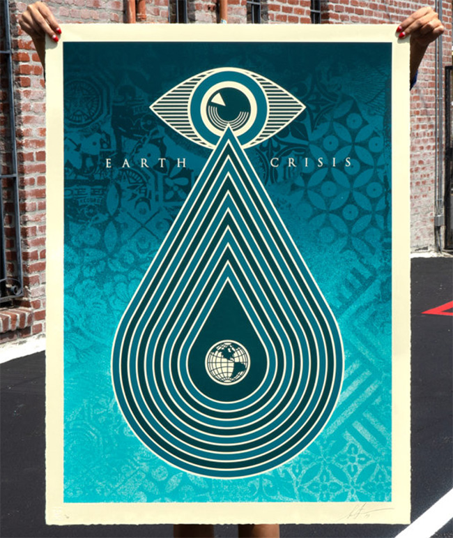 Earth Crisis print by Shepard Fairey