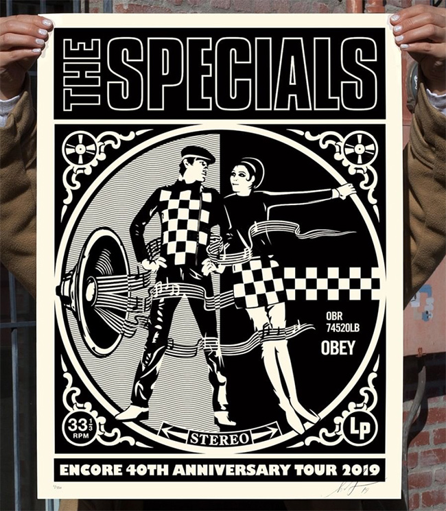 SPECIALS ENCORE 2019 new print by Shepard Fairey