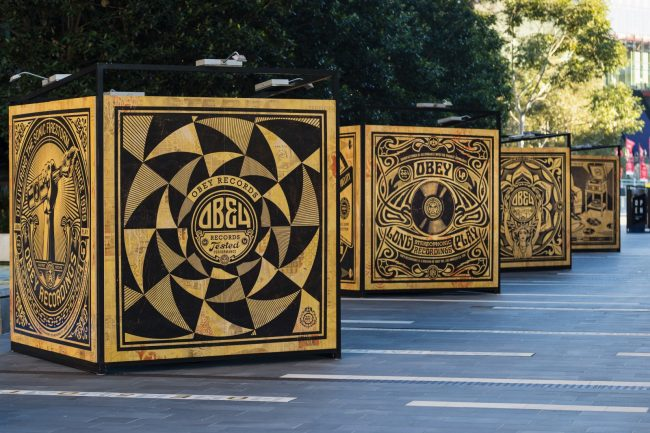 """Revolutions"" installation by Shepard Fairey"