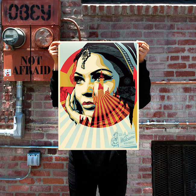 """Target Exceptions"" by Shepard Fairey."