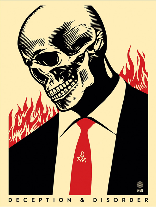 """Destruction & Denial""  by Shepard Fairey"
