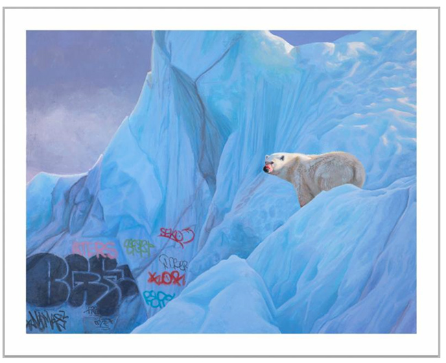 "Josh Keyes ""Spray"" Print"