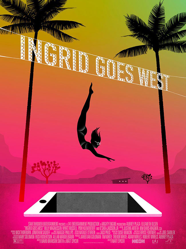 """Ingrid Goes West "" Screen-Printed Poster  by Brian Stauffer"