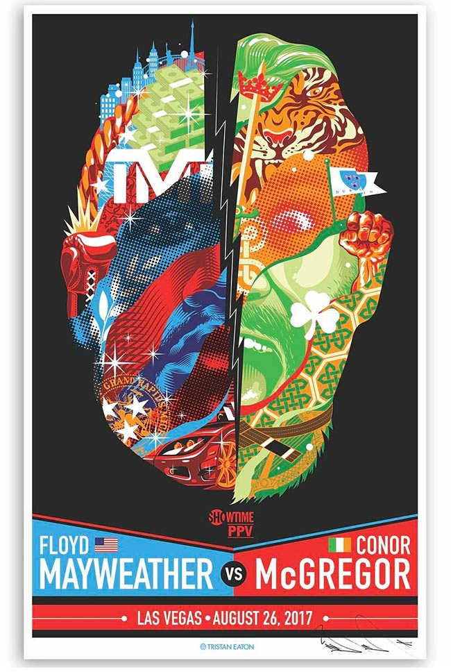 """Mayweather VS McGregor Fight"" Poster by Tristan Eaton"