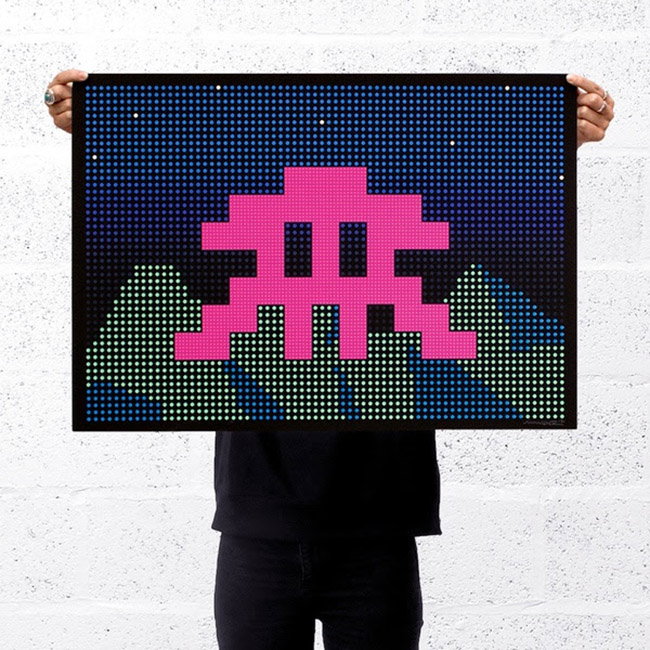 """L.E.D."" new print by Invader"