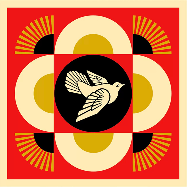 """Dove geometric"" new print  by Shepard Fairey"