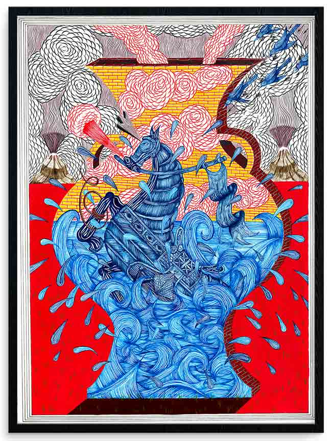 """Seahorse Life Vessel""  new print by Andrew Schoultz"