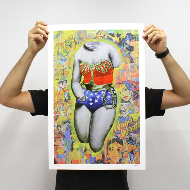 """The Liberation of Wonder Woman"" new print by artist XRAY"