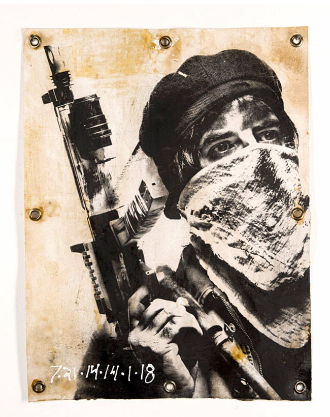 """7 – 21 -14 -14 -1 -18"" mixed media art by Eddie Colla"
