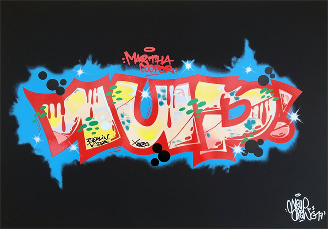 """One love one crew black"" new print by 1Up crew"
