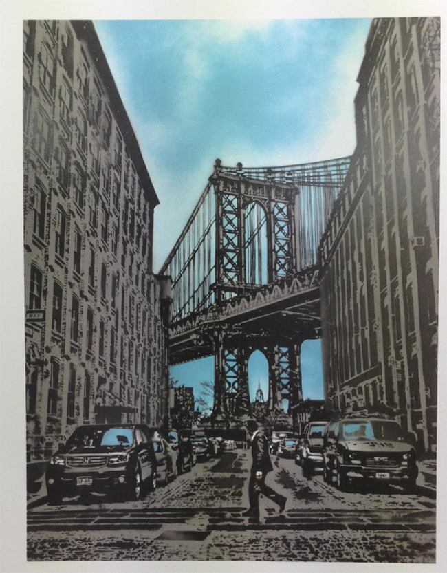 """Manhattan Bridge"" new print by Nick Walker"