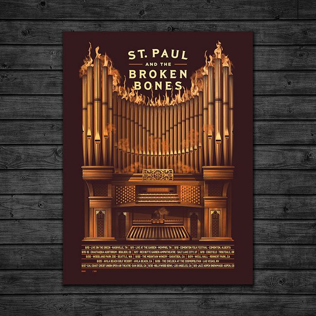 """St. Paul & The Broken Bones"" new poster by DKNG"