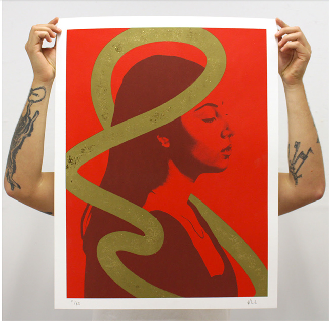 """Quieting the Mind"" new print by Kevin Ledo"