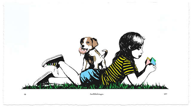 """Puppy Love"" print by bumblebeelovesyou"