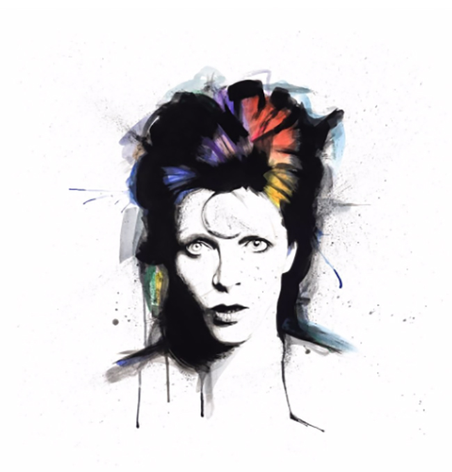 """Bowie"" new print by Richard Berner"
