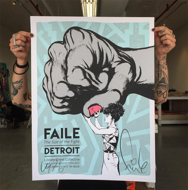 """Size of the Fight Show Print "" new print by Faile"