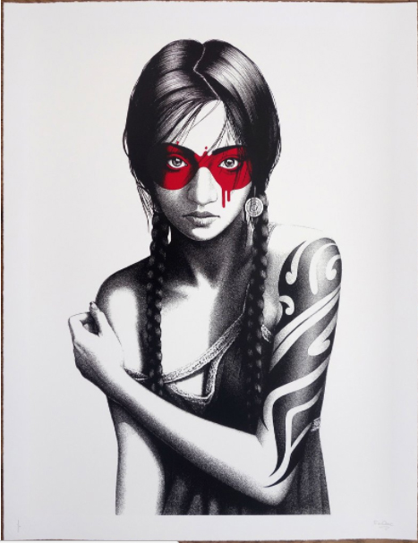 """Samurann"" white edition new print from Findac"