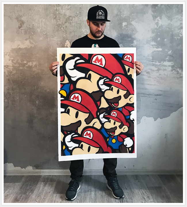 """Moscow Metro Mario"" new print by Evgeny Ches"