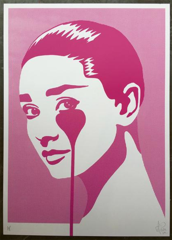 """Audrey dot-tone"" new print by Pure Evil"