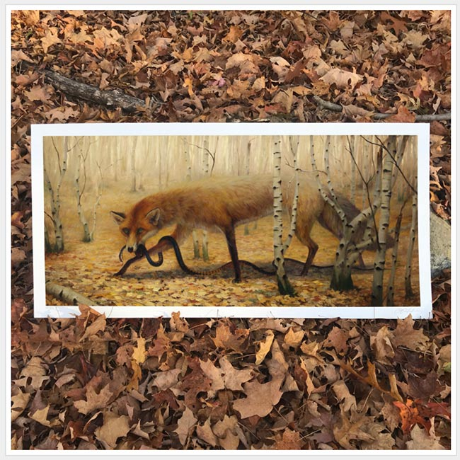 """Fall"" print by Martin Wittfooth"