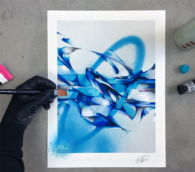 """""""O – Hand-Embellished Edition"""" new print  by Does"""