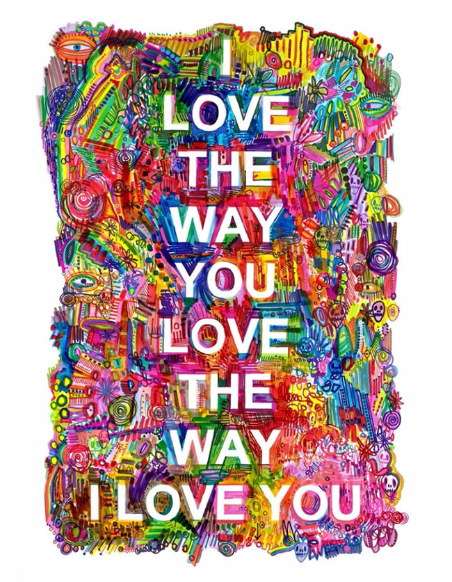 """I Love Love Love You""  Giclée Print by contemporary artist Hayden Kays"