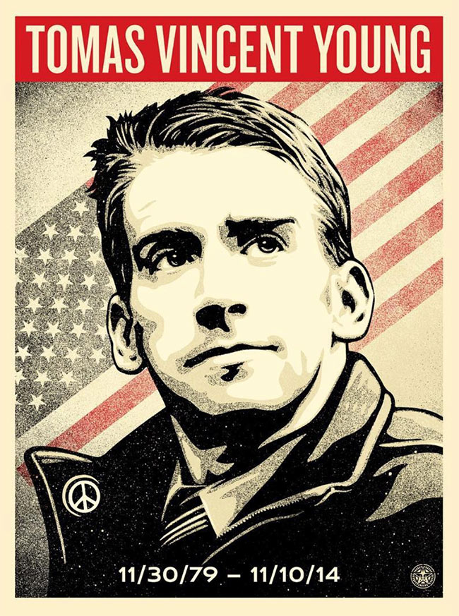 """Tomas Young Tribute"" new print by Shepard Fairey"