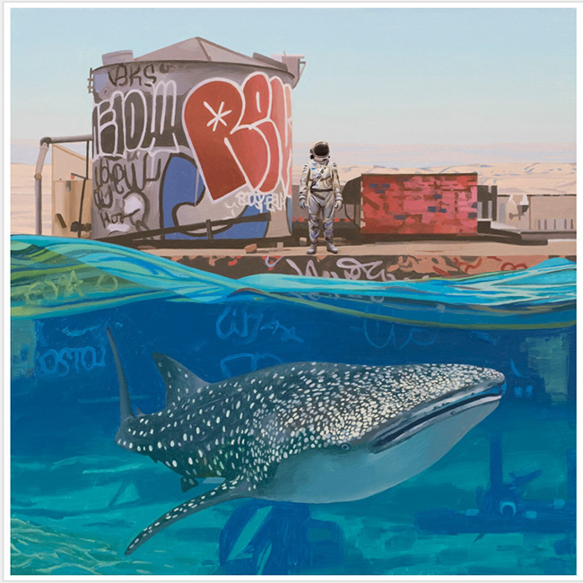 """Whale Shark""  new print by Scott Listfield"