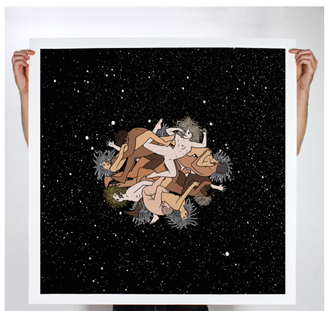 """OVERSIZED"" print by Zero Gravity Orgy"